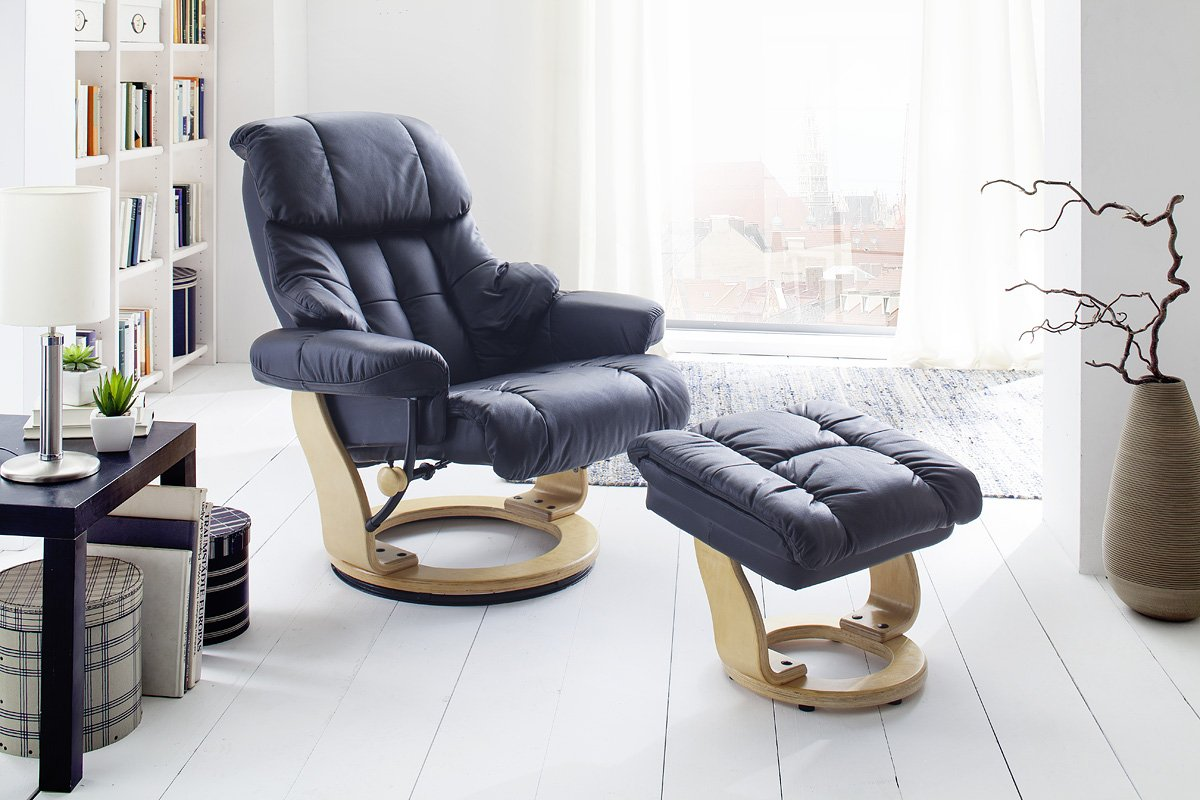 relaxsessel echtleder schwarz good tolle relaxsessel. Black Bedroom Furniture Sets. Home Design Ideas