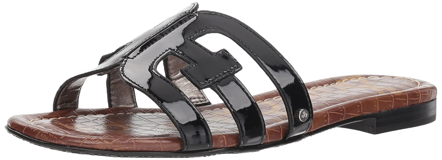 Sam Edelman Women's Bay Slide Sandal B07D3NRTGX 9 M US|Black Patent