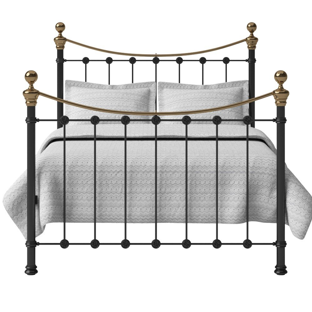 Original Bed Co Selkirk Glossy Ivory King Iron Metal Bed 6 0
