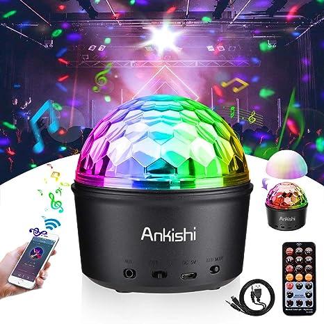 Bola discoteca LED Luz de escenario Luz de noche Bluetooth Luces 9w noche colorida Modo de luz Con control remoto Sonido activado Iluminación Disco ...