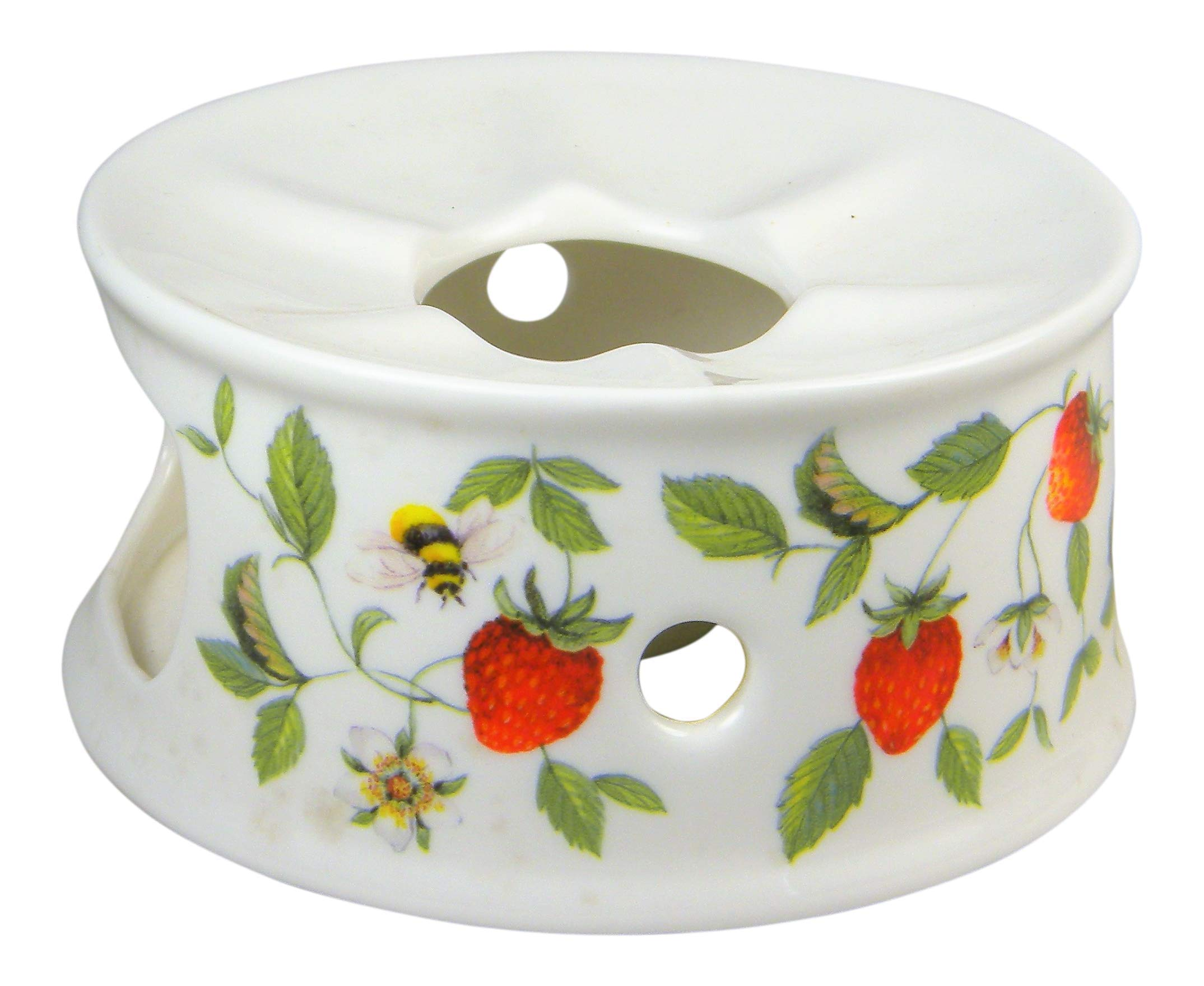 Roy Kirkham Alpine Strawberry Chintz Teapot Warmer Fine Bone China England