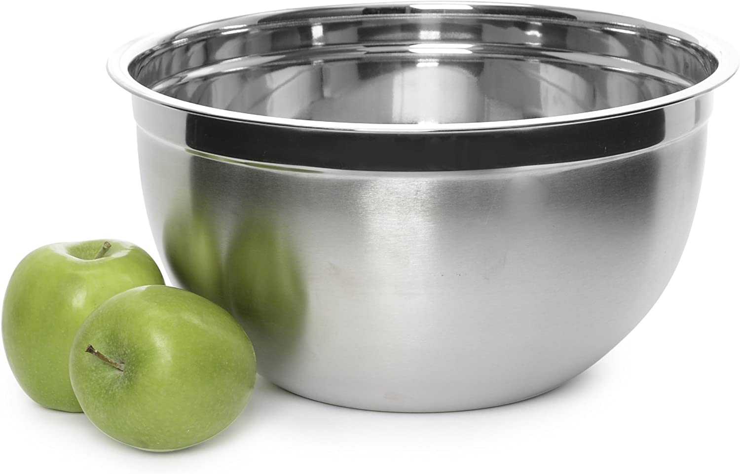 Stainless Steel Mixing Bowl - Premium Polished Mirror Nesting Metal Bowl for Cooking and Serving, Stackable for Convenient Storage (1, 10 Quart)