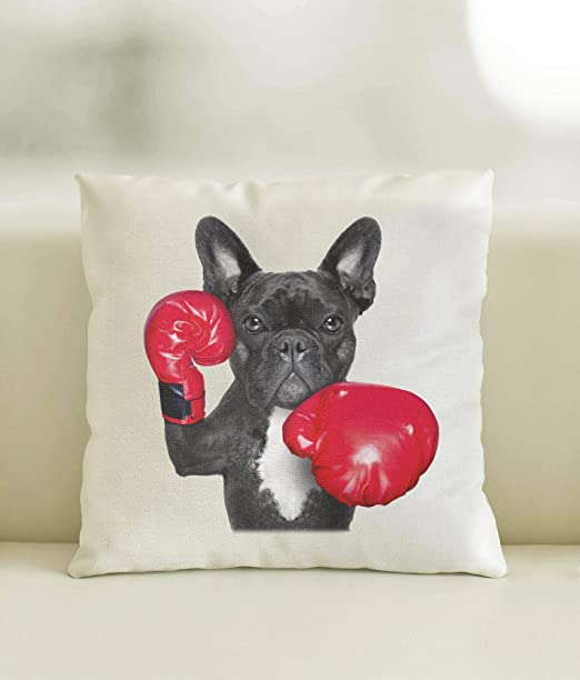 Yohoba - Funda de cojín de algodón y Lino, diseño de Bulldog ...