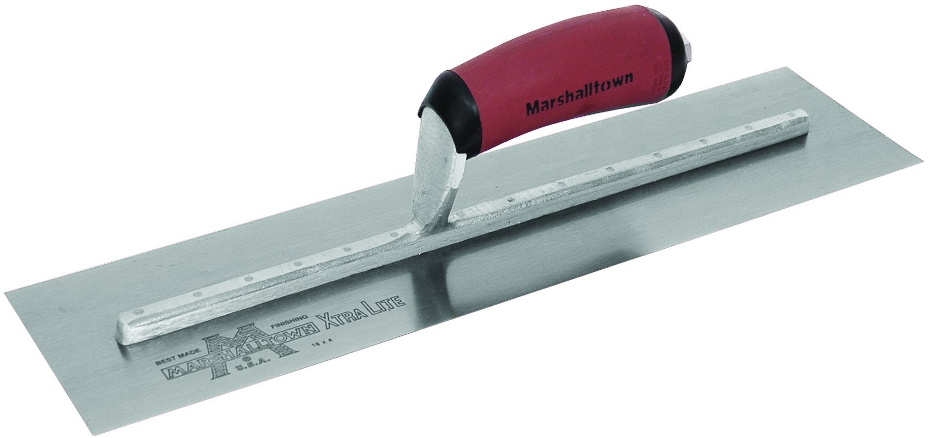 MARSHALLTOWN The Premier Line MXS66D 16-Inch by 4-Inch Finishing Trowel with Curved DuraSoft Handle