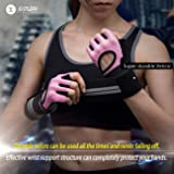 SIMARI Workout Gloves for Women Men,Training Gloves for Fitness Exercise Weight Lifting Gym Crossfit,Made of Microfiber SG-912 Pink
