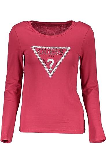 02ed847c4eeb Guess Jeans W81I03JA900 T-Shirt Long Sleeves Women: Amazon.co.uk ...