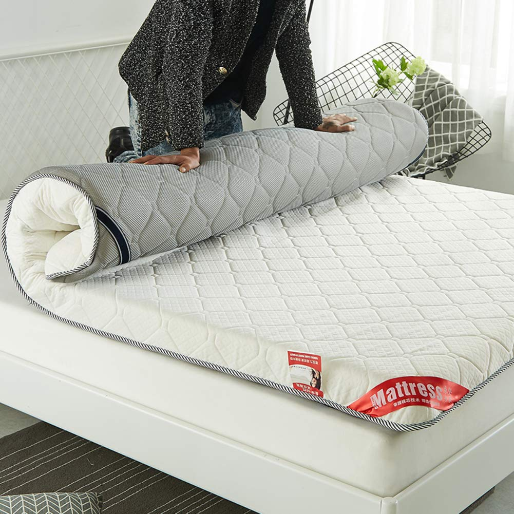 YX Folding Gesteppter Matratze,verdicken Sie Mittlere Firma Tatami Bodenmatratze Atmungsaktive Nicht-Slip Futon Portable Folding Klappbare Matratze Gästebett Matte-b 180x200x10cm(71x79x4inch)