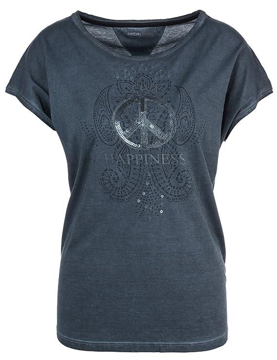 Marc Cain Sports Damen T-Shirt GS 48.42 J29, Blau (Midnight Blue 395), 42  (Herstellergröße: N5/42): Amazon.de: Bekleidung