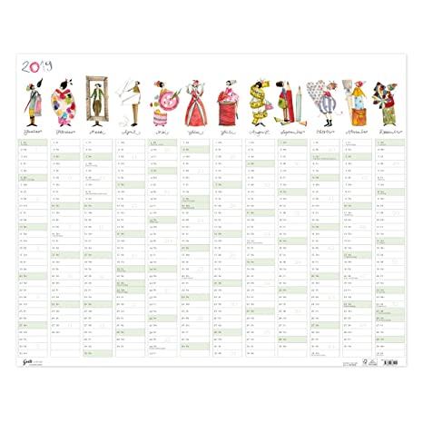 Grand Calendrier Mural Pour Planning.Grand Planning Annuel 2019 72 X 58 Cm Calendrier Mural