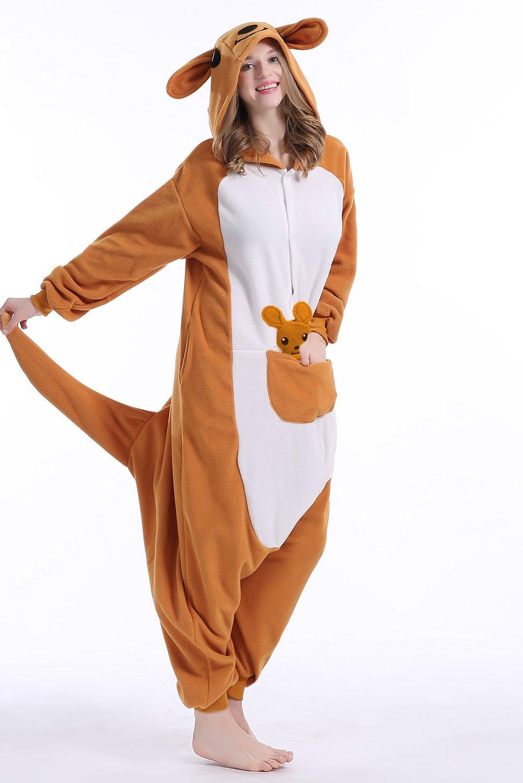 Amazon.com: Machic Kigurumi Onesie Cosplay Kangaroo Pajamas Animal Costume for Adults: Clothing