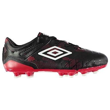 38315e2ecabe8 Umbro Kids Boys UX 2 Club HG Football Boots Child Firm Ground Lace Up  Padded Black/White UK C11 (29): Amazon.co.uk: Clothing
