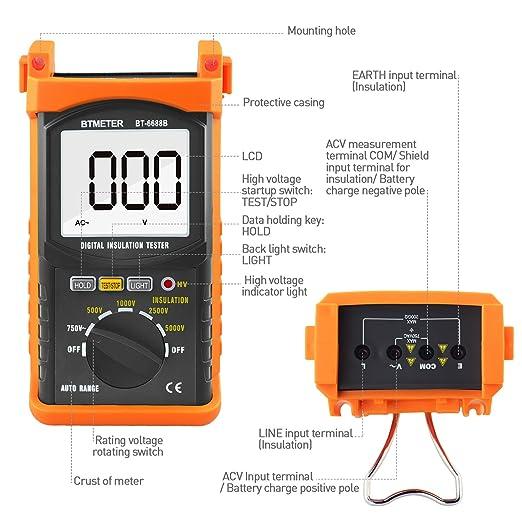 LIMEI-ZEN High Voltage 2500V Insulation Resistance Tester ETCR3400B Resistance Tester