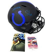 $249 » Darius Leonard Indianapolis Colts Signed Autograph Rare ECLIPSE Speed Full Size Helmet THE MANIAC INSCRIBED JSA Witnessed Certified
