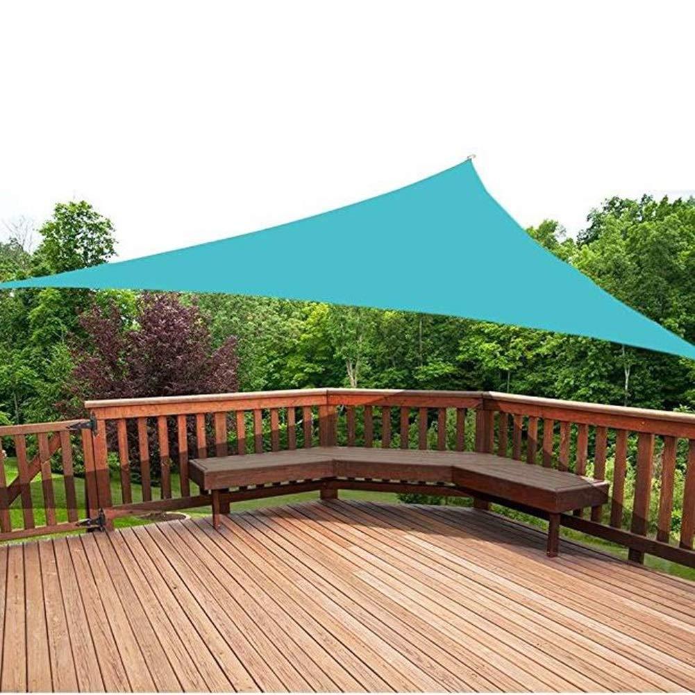 8 Colori Colore : Beige, Dimensioni : 2x2x2m GDMING Rete Parasole Serre Antivento Tenda a Vela Triangolare Anti-UV terrazza Anello Metallico a Forma di D Poliestere,5 Dimensioni
