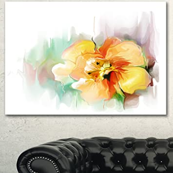 Amazon Beautiful Yellow Flower Drawing Extra Large Floral Wall