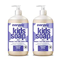Everyone 3-in-1 Kids Soap: Shampoo, Body Wash, and Bubble Bath, Lavender Lullaby...