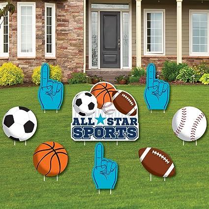 Amazon.com: GO, lucha, Win – deportes – Yard Sign y exterior ...