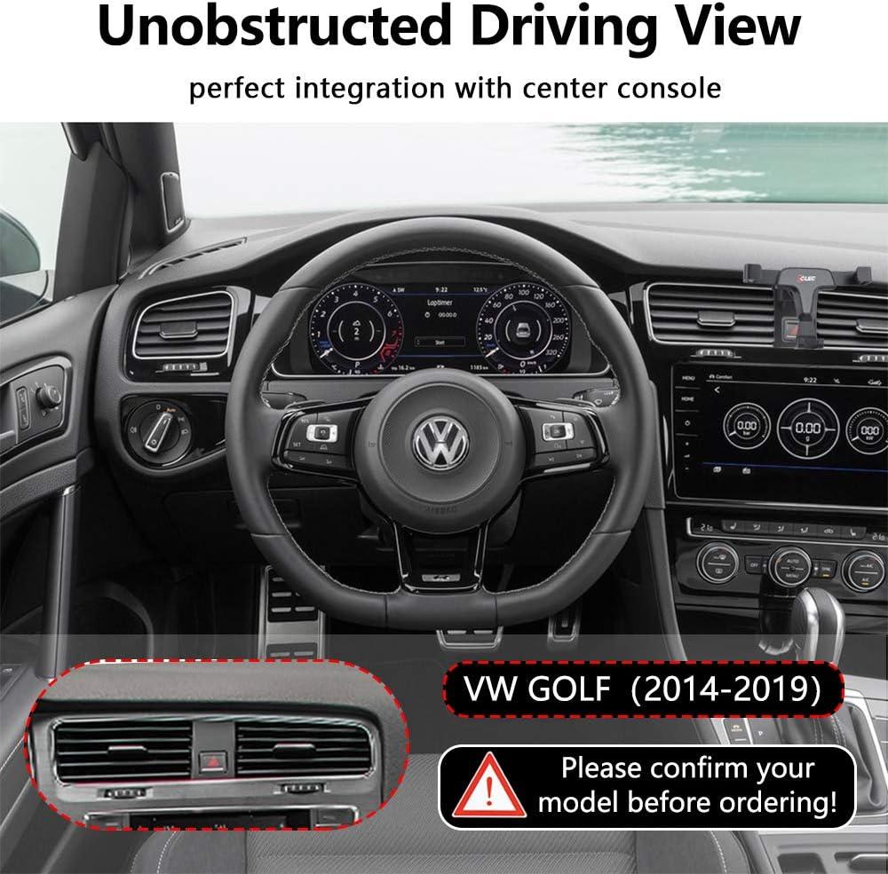 AYADA Soporte Móvil para VW Golf 7, VW Golf 7 Car Phone Holder Gravedad Bloqueo Automático Aleación de Aluminio Estable Manos Libres Car Mount VW Golf 7 Accesorios Volkswagen Golf (Gravity): Amazon.es: Electrónica