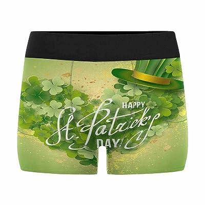 InterestPrint Boxer Briefs Men's Underwear Saint Patricks Day with Green Hat and Shamrock (XS-3XL)