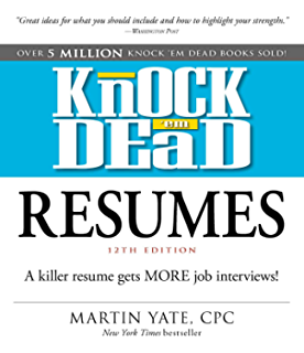 amazon com knock 039 em dead resume templates plus 110 resume