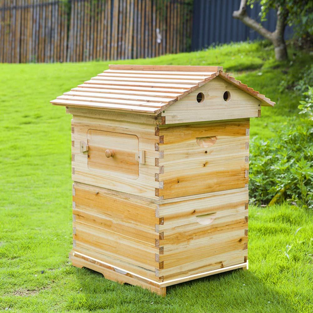 ZZQ Frei flie/ßender Bienenstock aus Holz mit automatischen Rahmen f/ür die Gartenbienenzucht