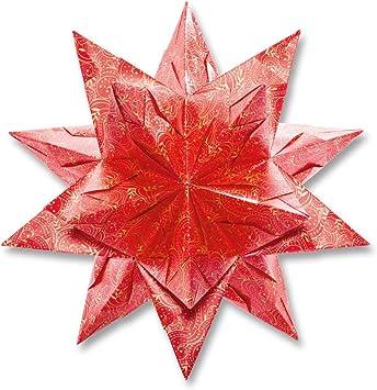 32 Blatt 115g//m/² Bascetta-Stern rosa 15 x 15 cm