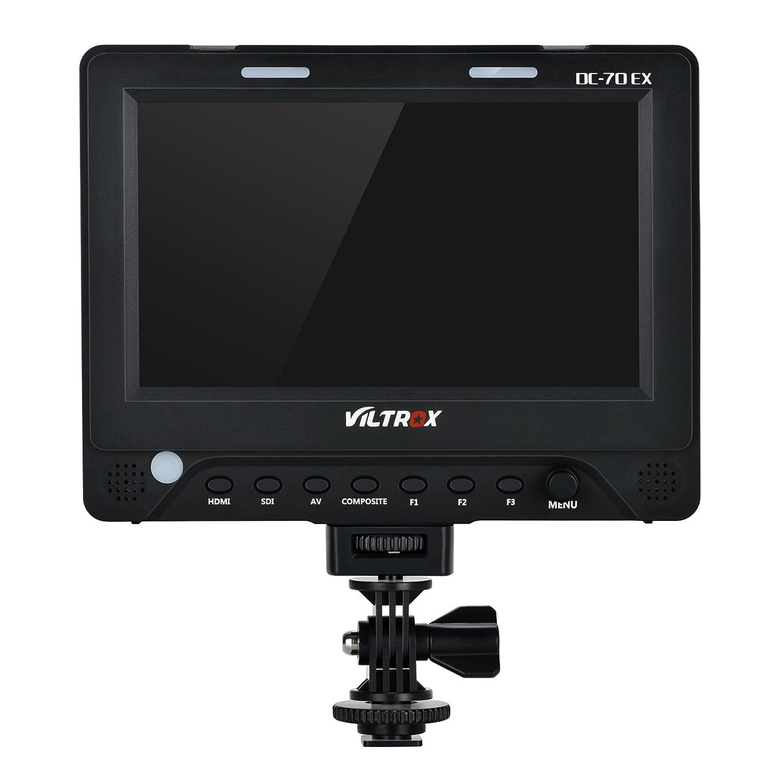 VILTROX DC-70 PRO 7 Pulgadas Full HD 1920x1200 C/ámara Video Monitor para DSLR Videoc/ámara BMPCC con Salida de Entrada HDMI SDI compatible con salida 4K
