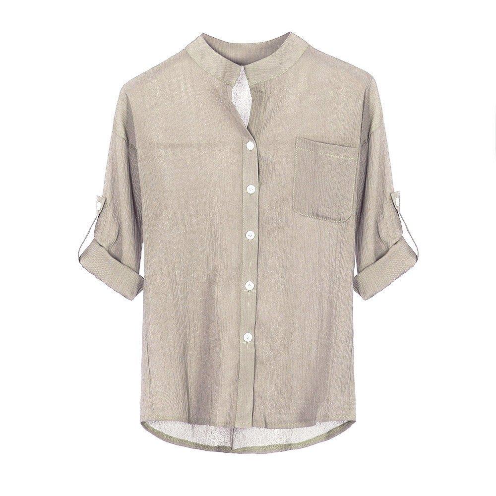 Camiseta de Manga Larga para Mujer, BBestseller Ropa Camisetas Mujer, Correas elásticas de Color sólido Las Mujeres destacan Cuello Camisa de Blusa Casual ...