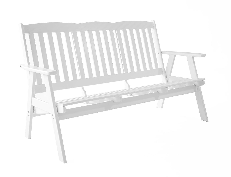 Ambientehome verstellbare Gartenbank 3-Sitzer Bank Massivholz Holzbank Relaxfunktion VARBERG, Weiß