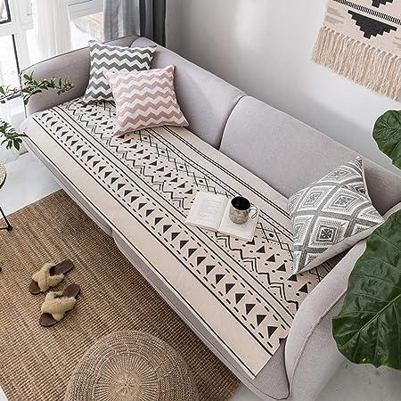 YTSM Fundas Sofas 3 Plazas,Conjunto de sofá de Lino de algodón Cuatro Estaciones Universal Antideslizante de Tres Asientos para Familia de Mascotas-Nile_85 * 180cm(1PCS): Amazon.es: Hogar