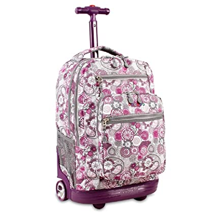 Amazon.com   Purple Kids Lemon Floral Pattern Rolling Backpack 20 ... fd1a09a41fcd9