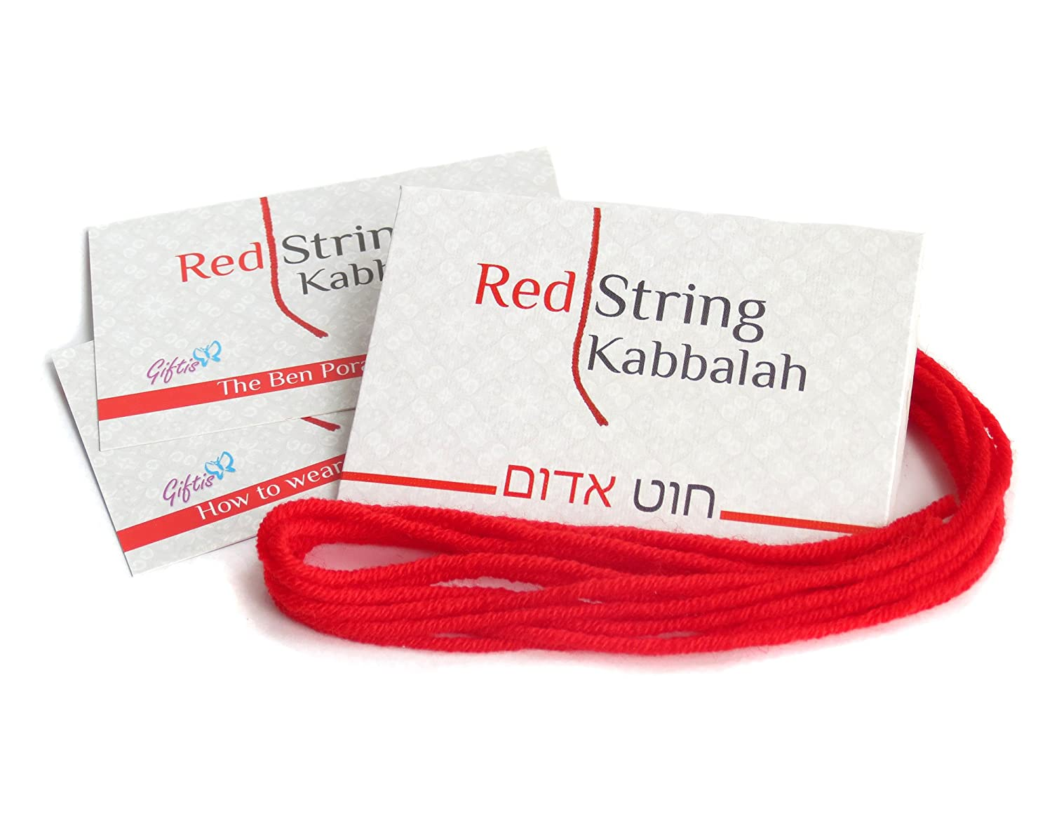 5 pcs Original Kabbalah Red String Bracelet - 100% Wool - Powerful Protection for You and Your Family Against the Evil Eye from Rachel's Tomb in Israel Giftis RS5
