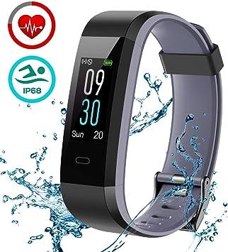 LATEC Pulsera de Actividad, Pulsera Inteligente Pantalla Color Reloj con Pulsómetro Impermeable IP68 Monitor de Ritmo Cardíaco Podómetro Deportiva Fitness Tracker para Mujer Hombre Niños: Amazon.es: Deportes y aire libre