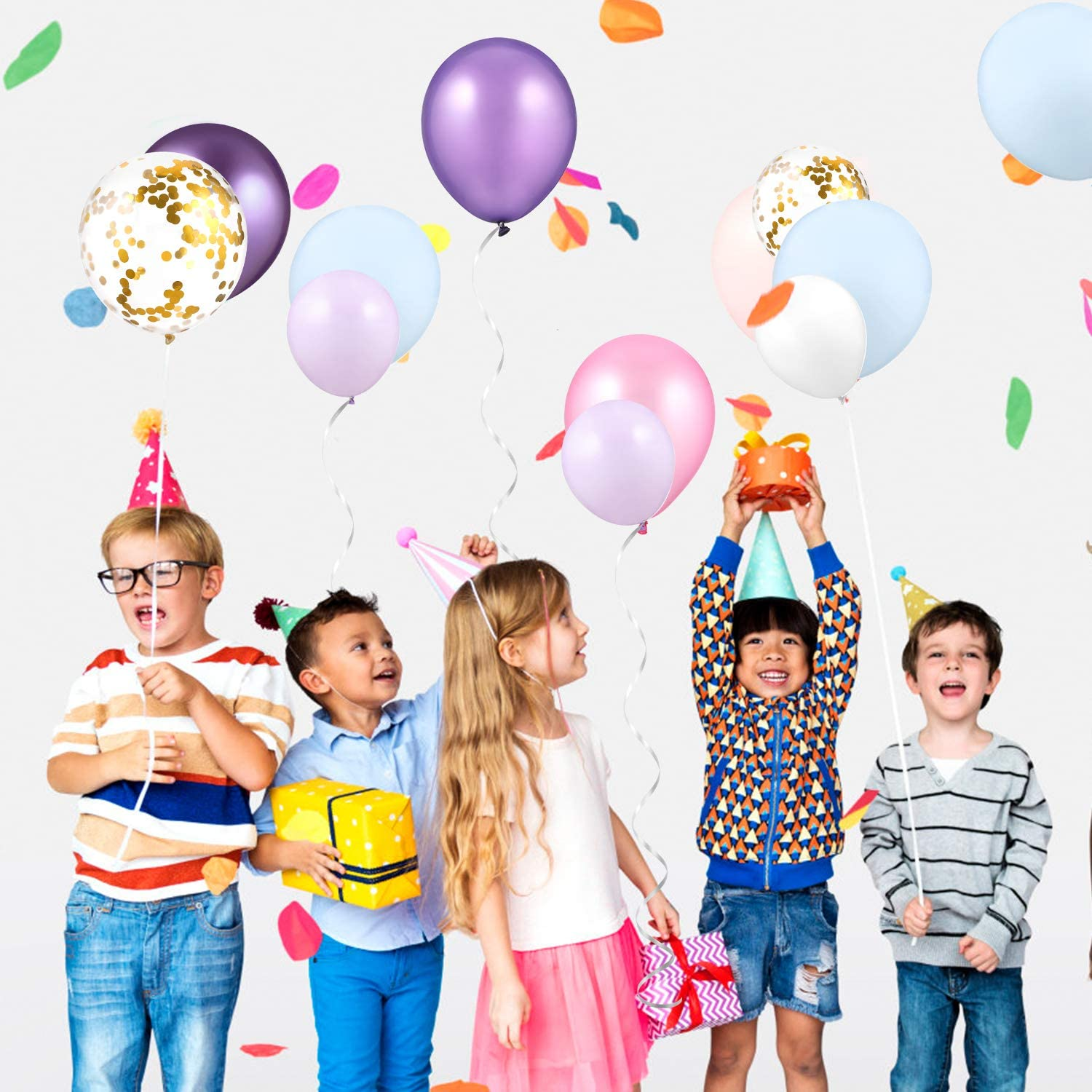 Confetti Balloons Latex Balloons Color Assorted for Baby Shower Birthday Party Decoration GAGAKU 168 Pcs Balloons Garland Arch Kits for Unicorn Mermaid Party
