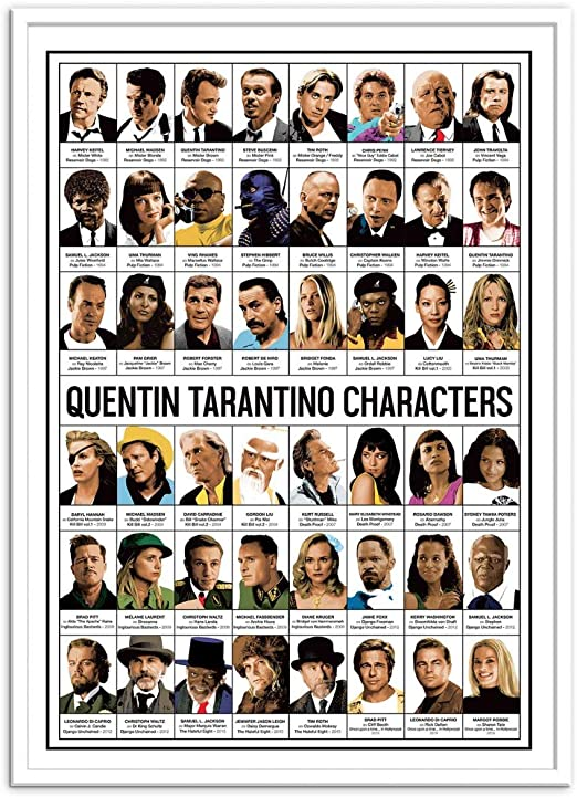 Wall Editions Art-Poster - Quentin Tarantino Characters - Olivier ...