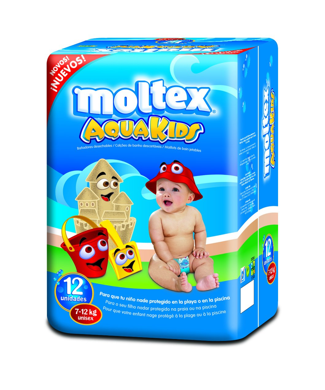 Moltex Aquakids Bolsa de Calzones Entrenadores - 12 Calzones: Amazon.es: Bebé