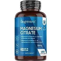 Magnesium Citraat - 180 Capsules voor 3 maanden - 740 mg Magnesium Citraat waarvan 220 mg Elementair Magnesium per…