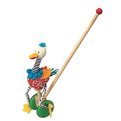 Wonderworld Speedy Flamingo Push Toy: Toys & Games