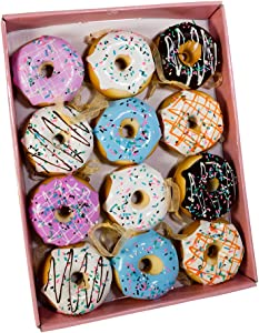 Kurt Adler Set of Twelve 2.75-Inch Donut Ornament