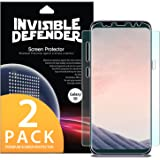 Galaxy S8 Screen Protector, Invisible Defender [Full Coverage][2-Pack] Edge to Edge Curved Side Coverage Guaranteed [Case Compatible] Super Thin HD Clearness Film for Samsung Galaxy S8 2017