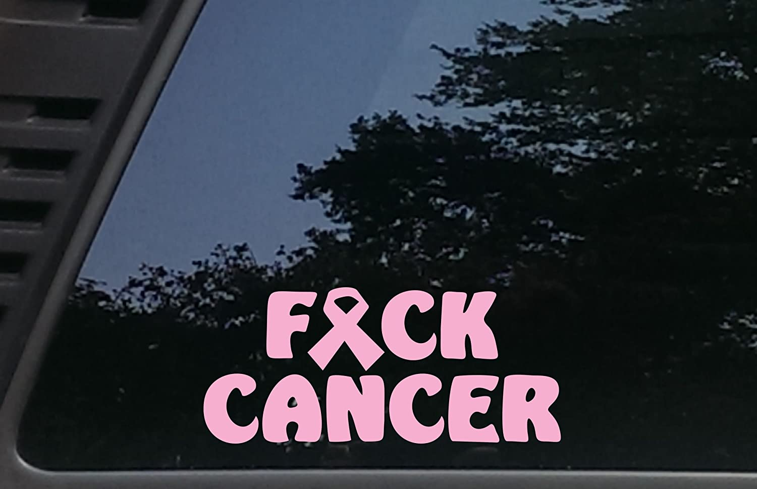 trucks smooth surface F*ck Cancer in PINK virtually any hard laptops tool boxes cars MacBook 8 x 3 1//2 die cut vinyl decal for windows