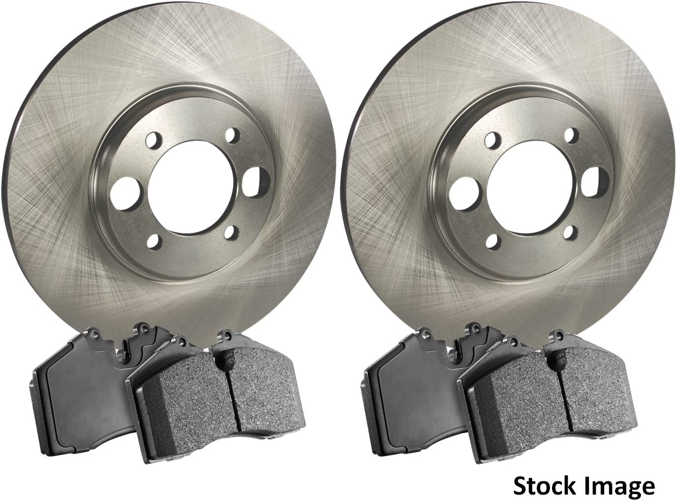 Stirling 2013 For Acura TL Rear Disc Brake Rotors and Ceramic Brake Pads