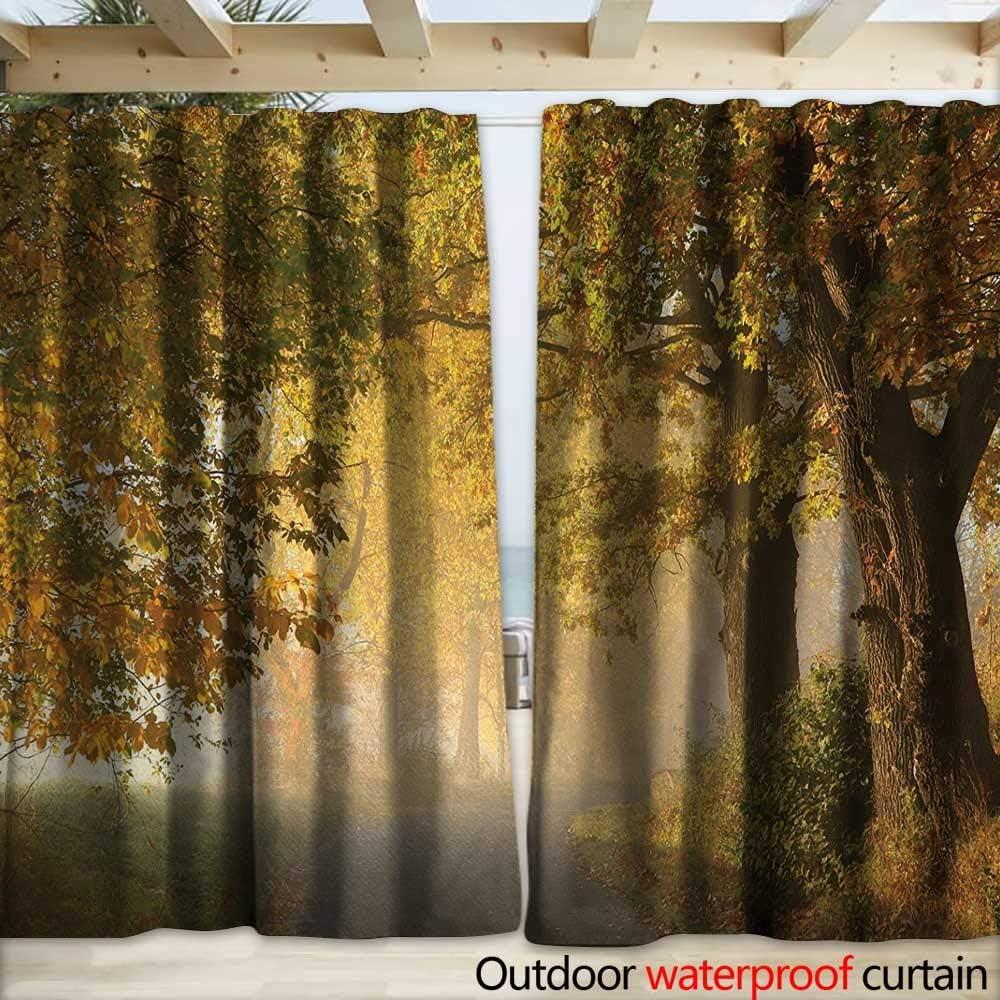warmfamily - Cortina de Madera para pérgola, diseño Vintage de Bosque y árbol, 108 x 96 cm, Color Verde y Beige: Amazon.es: Jardín