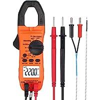 Multimetro Pinza Amperimetrica Digital 2000cuentas Pinza Multimeter Amperímetro AutoRango Corriente CA,Tensión,NCV…