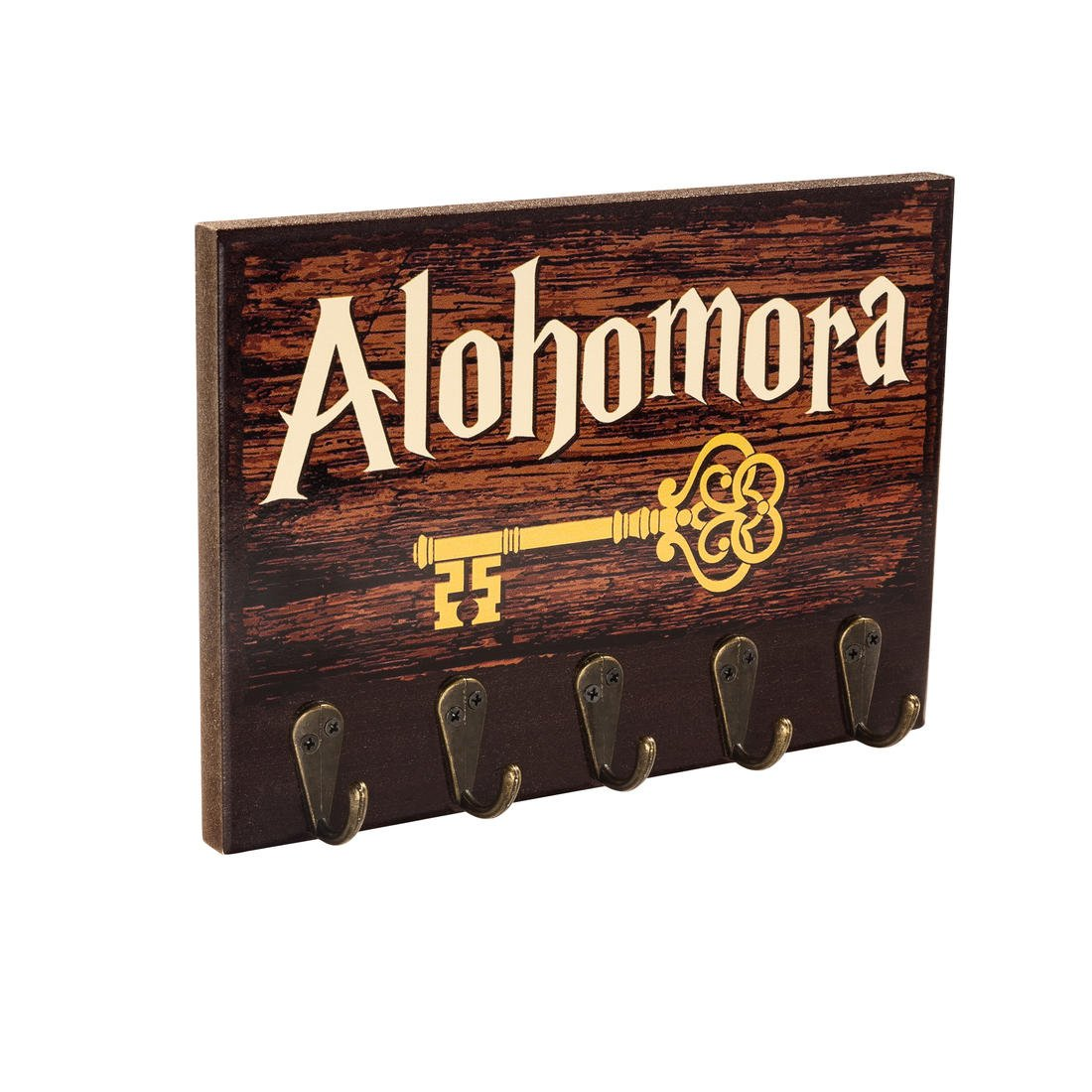 getDigital 13854 Alohomora Key Rack   Magical Home and Office Decor Key Holder with 5 Metal Hooks   Can Also be Used as a Hanger for Clothes, Bags or Dog leashes   8.27 x 5.9 x 1.57 inch