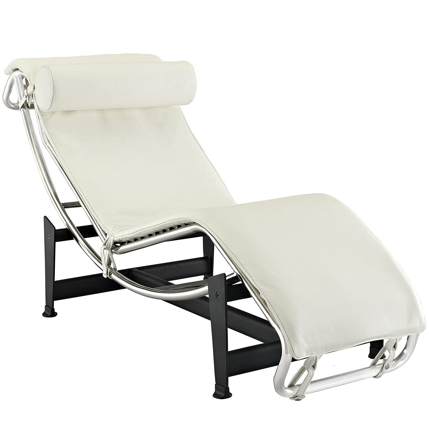 Charmant Amazon.com: Lc4 Le Corbusier Chaise Lounge Chair In White: Kitchen U0026 Dining