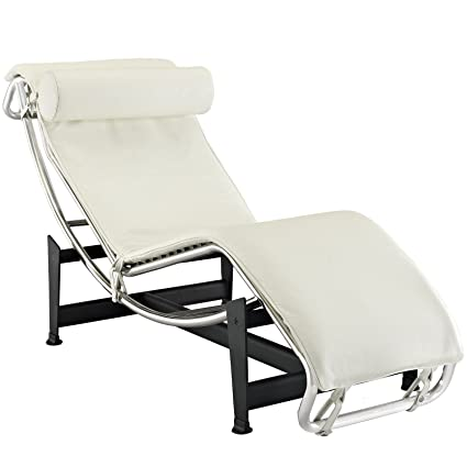 Amazing Lc4 Le Corbusier Chaise Lounge Chair In White