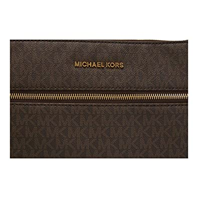 45cea2e9df4c Michael Michael Kors Bedford Flat Crossbody, Brown: Handbags: Amazon.com