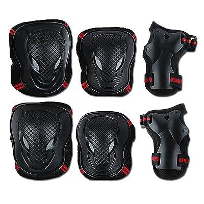 6en 1Coude genou poignet de protection Tapis de protection de sécurité pour activités de plein air vélo roller Skating Skateboard