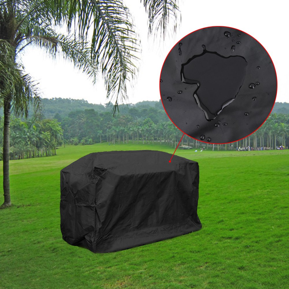 LITTLEGRASS BBQ Grill Cover 74x24x46'' Outdoor Patio Garden Gas Barbecue Smoker Cover Waterproof UV Resistant with Elastic Strap and Storage Bag for Weber, Holland, JennAir, Brinkmann and Char Broil by LITTLEGRASS (Image #8)